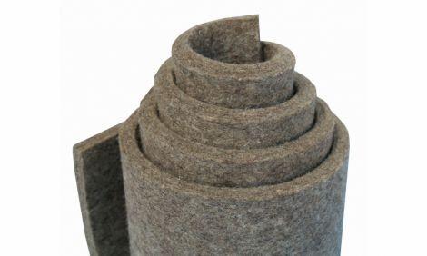 G100 - šedá, polotuhá (0,36 g/cm3), 100% vlna