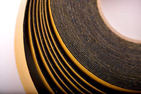 Samolepiaca plsť vrolkách - čierna