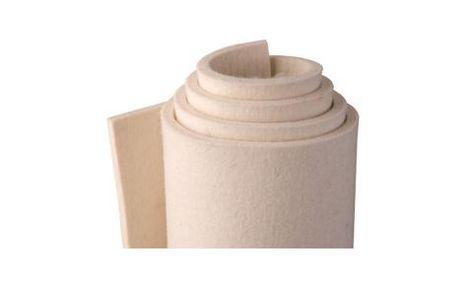 W80 – biela, mäkká (0,24 g/cm3), 80% vlna / 20% umelé vlákna